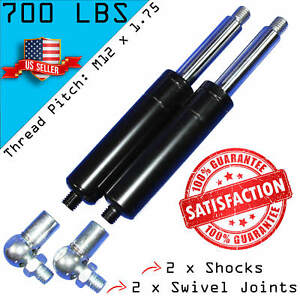 2 Bolt On Lambo Vertical Door Kit Shocks With 2 Ball Joint Fittings M12 700lbs