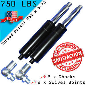 2 Bolt On Lambo Vertical Door Kit Shocks With 2 Ball Joint Fittings M12 750lbs