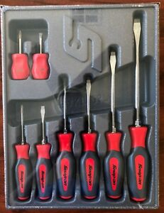 Snap On Shdx80r 8 Pc Instinct Combination Screwdriver Set Red New Sealed W Tray