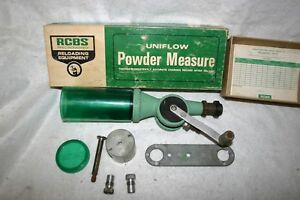 RCBS UNIFLO POWDER MEASURE  Large and small drums in Box! !