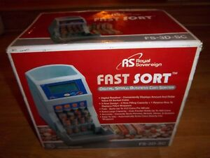 Royal Sovereign Fs 3d Coin Sorter Digital Automatic Fast Sorter New In Box