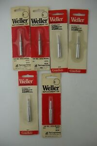Lot Of 6 Weller Soldering Iron Tips St1 St4 For Wp25 Wp40 Irons Genuine
