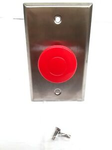 Access Security Products Aspx 729 Pneumatic Push To Exit Mushroom Button