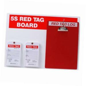 122057 5s Red Tag Board W clipboard And 7 X 4 Tags 1 Kit