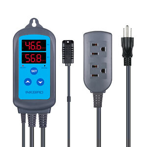 Inkbird Pre wired Air Humidity Controller Hygrometer Humidistat Wet Humid Ihc200