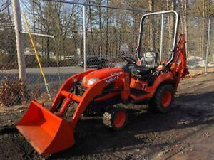2012 Kubota Bx25 4x4 Compact Tractor Loader Backhoe 3 Point Hitch