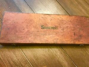 Vintage Starrett 445 Depth Micrometer W 8 Rods In Original Box