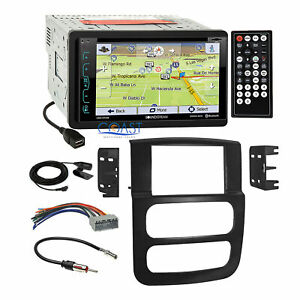 Soundstream Dvd Gps Bluetooth Stereo Dash Kit Wire Harness For 02 05 Dodge Ram