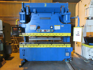 Cincinnati Hydraulic Press Brake 135 Ton 6 Ft Hurco Ab 7 Backgauge video Link