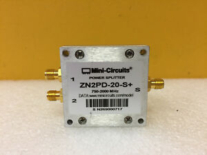 Mini circuits Zn2pd 20 s 750 To 5000 Mhz Sma f Power Splitter Combiner Tested