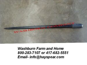 E39 Tapered Hay Bale Spear Thin 1 3 8 Diameter W Nut