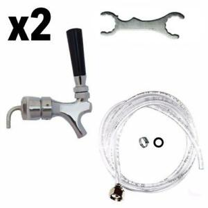 X2 Draft Beer Tower Rebuild Kit Shank Beer Faucet Hose Free Tower Wrench