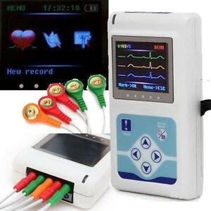 Medical 24 Hour 3 Channel Ecg Color Lcd Holter Recorder System Monitor Software