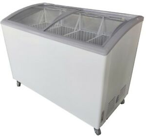 Premium 10 9 Cu Ft Chest Freezer With Curved Glass Top In White