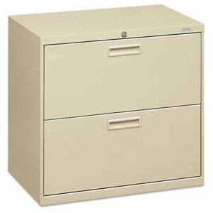 Hon 500 Series Two drawer Lateral File 30w X 19 1 4d X 28 3 8h Putty Hon