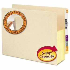 Smead 5 1 4 34 Exp End Tab File Pockets With Tyvek Letter Manila 10 box