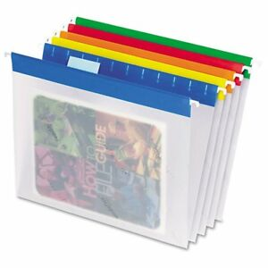Pendaflex Easyview Poly Hanging File Folders 1 5 Tab Ltr Assorted Colors