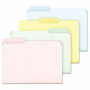 Pendaflex Pastel Color File Folders 1 3 Cut Top Tab Ltr Assorted 100 box