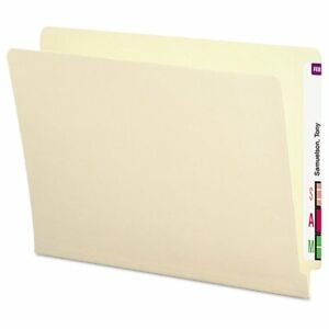 Smead Antimicrobial File Folders Straight End Tab 11 Point Letter Manila