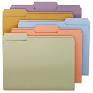 Smead File Folders 1 3 Cut Top Tab Letter Assorted Colors 100 box Smd11953