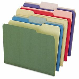 Pendaflex Earthwise Recycled File Folders 1 3 Top Tab Ltr Assorted Colors