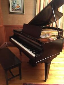 Antique 1914 Marshall Wendell Baby Grand Piano Sn 49101