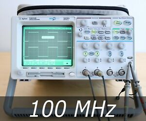 Hp Agilent 54624a 4 channel 100 Mhz Oscilloscope 4 New Probe Very Clean