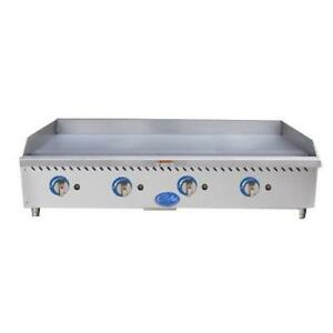 Globe Gg48g 48 Gas Griddle Flat Top Grill