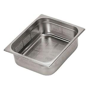 World Cuisine 14202 02 Full Size 3 4 In Deep Perforated Steam Table Pan