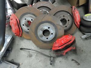 05 08 Dodge Magnum Srt Brembo Big Brake Kit Hot Rod Red Mopar Caliper Rotors