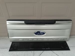 2017 2018 Ford Super Duty Tailgate F250 White Gold Tailgate Hitch Cameras Pwrlk
