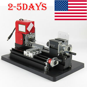 Usa Easy Use Mini Metal Lathe Machine Saw Combined Tool Diy Wood 20000rpm min