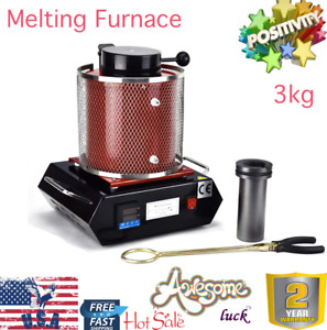 3kg Digital Automatic Metal Melting Furnace Kiln Refining Casting Gold Silver
