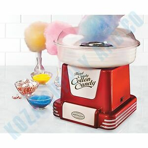 Cotton Candy Machine Sugar Floss Maker Nostalgia Retro Cones Countertop Electric