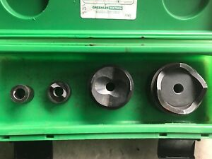 Greenlee 7304 1 2 5 And 3 Inch Knockout Set Used Good Working Condition