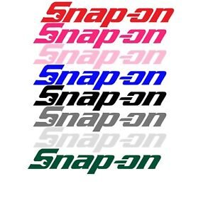 Snap On Decal Multiple Sizes 18 Colors Free Shipping Tools Tool Box Sticker