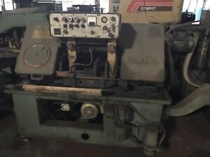 Used Do all C 80 Automatic Bandsaw With Auto Feed Unit Light Industrial Shop Saw