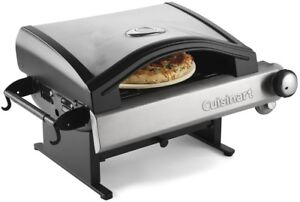 Cuisinart Liquid Propane Table Top Pizza Oven Portable Stainless Steel Outdoor