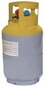 Mastercool 62010 Gray yellow Refrigerant Recovery Tank 30 Lb Capacity Units