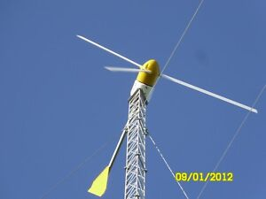 Bergey Wind Turbine 10k Complete System With 140 Ft Guyed Lattice Tower
