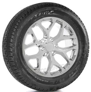 Chevy Silverado Tahoe Suburban 20 Snowflake Chrome Wheels Rim Bridgestone Tires