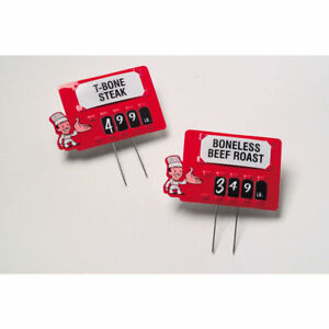 Meat Price Tag Kit With Pins Red Plastic Butcher 3 3 4 l X 2 3 8 h