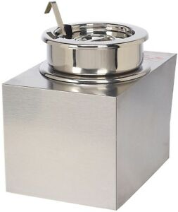 Nacho Cheese Warmer With Insert Bowl And Ladle Concession Food Warmer Stainless