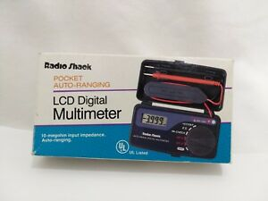 Radio Shack 22 179a Pocket Auto Ranging Lcd Digital Multimeter Nos Free S h