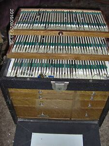 H Gerstner Dental Cabinet W Full Of Tools Supplies