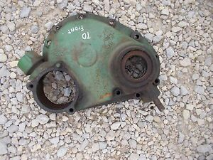 Oliver 70 Rowcrop Tractor Engine Motor Front Cover Panel W Oil Fill
