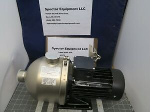 Grundfos Stainless End Suction Booster Pump 1 5 H p 53gpm 80 3ph 60hz a1s3