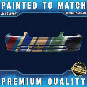 Painted To Match Front Bumper Cover Direct Fit For 2000 2001 Toyota Camry 00 01