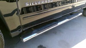 Pair Of Nice Chrome Running Boards Double Cab Chevy Silverado 1500 15