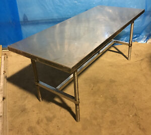 6 Foot Heavy Duty Stainless Steel Table 72 X 30